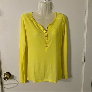 GAP X SMALL YELLOW LONG SLEEVE TOP